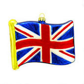 Union Jack Glass Ornament