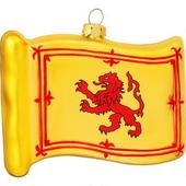 Lion Rampant Flag Glass Ornament