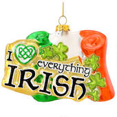 Irish Flag with Saying Ornament