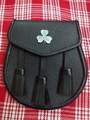 Irish Shamrock Leather Sporran