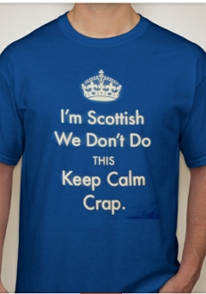 Scottish Don't Keep Calm T-shirt & Travel Mug Combo