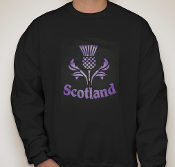 Thistle Scotland Black Sweatshirt