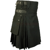 Black Utility Hiking Kilt