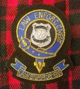 Law Enforcement Clan Crest Badge or Kilt Pin