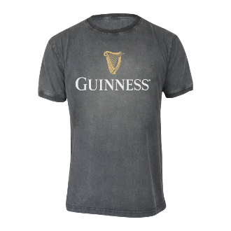 Guinness Distressed Trademark Label Tee