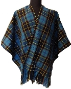 US Military & First Responder Tartan Wool Ruana (Wrap/Shawl)